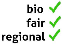 "Logo ""bio, fair, regional"""