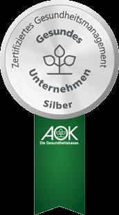 BGM Siegel der AOK Bayern - Gesundes Unternehmen in Silber